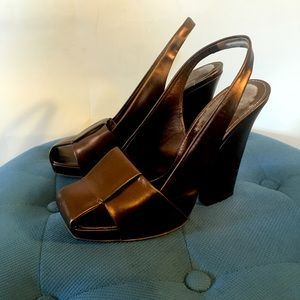 YSL vintage chunk, Copper heels, Used size 37.5